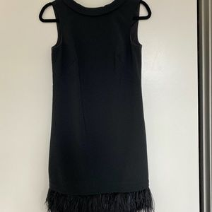 Ann Taylor LBD with Feathers